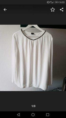 Chiffon Bluse SOliver Business weiß