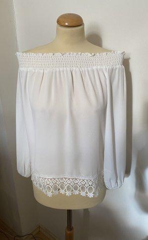 Butik Blouse Carmen blanc
