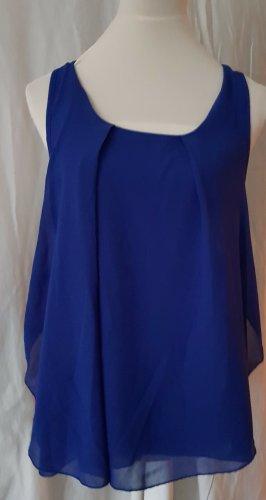 Chiffon Bluse Tunika Top blau Gr. 3XL / 40-42