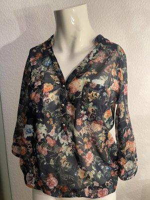 Chiffon Bluse von Orsay Gr 34 36 XS/S Blumen