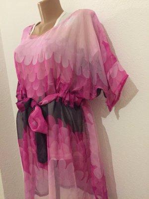 Chiffon jurk framboosrood-roze
