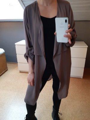 Comma Veste chemisier gris brun