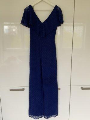 Bershka Spodnie garniturowe niebieski-ciemnoniebieski