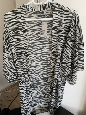 H&M Divided Kimono zwart-wit Polyester