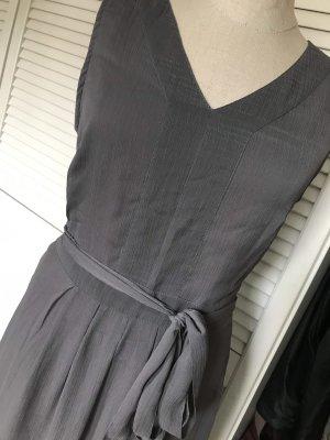 Street One Szyfonowa sukienka ciemnoszary-antracyt
