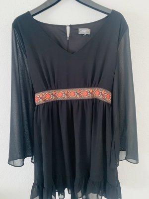 Apricot Chiffon Dress black