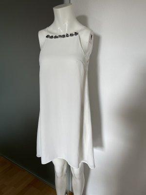 Chiffon Kleid Gr 36 S weiß