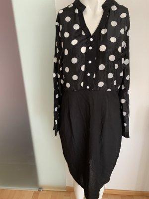 Blouse Dress black-white