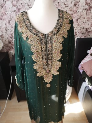 Chiffon Dress forest green