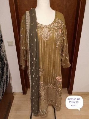 Chiffon Dress gold-colored