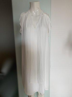 Chiffon Kleid in weiß Gr 40 42 XL von Dresses