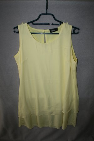 Chiffon Kleid Lagenlook in gelb Gr. 38 von Janina - wie neu