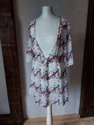 Chiffon Kleid mit aufregendem Ausschnitt Gr. M Paisley Muster