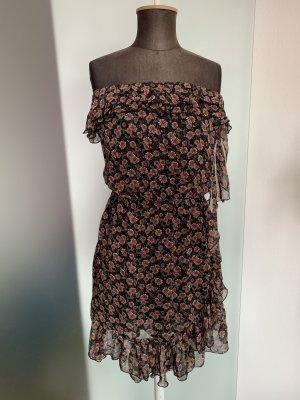 Chiffon Kleid mit Rüschen Gr 34 36 S von Qed London