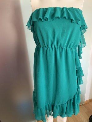 Chiffon Kleid mit Rüschen Gr 36 S