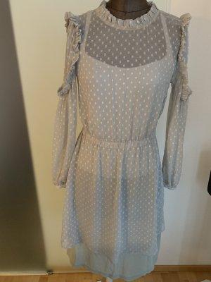 Chiffon Kleid mit Rüschen Gr 36 S von Aware By Vero Moda