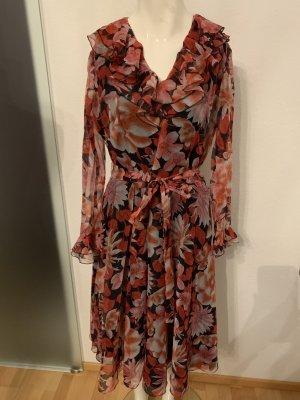 Chiffon Kleid mit Rüschen Gr 38 40 L steht 42 von Gerber Modell
