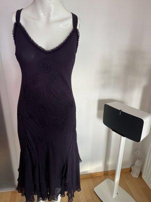Chiffon Kleid mit Verzierung Gr 40 42 L von per sun