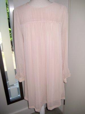 Robe trapèze rosé-vieux rose