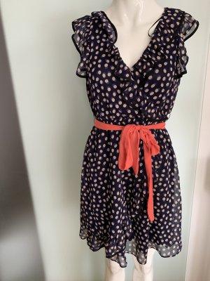 Chiffon Kleid Rüschen Gr 38 M von H&M