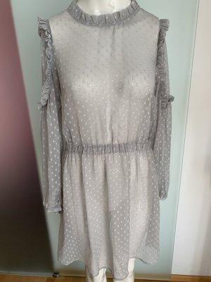 Vero Moda Szyfonowa sukienka srebrny-jasnoszary