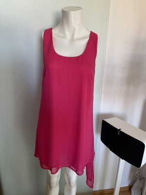 Bodyflirt Chiffon jurk framboosrood
