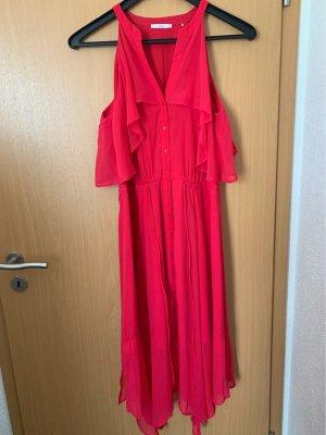 edc by Esprit Vestido estilo flounce rojo frambuesa
