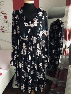 Chiffon Kleid von s.Oliver / 38/M, schwarz/ Rosa wie neu