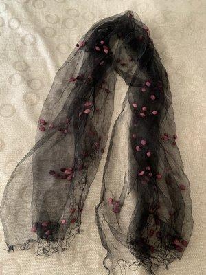 Écharpe bavaroise noir-rouge mûre