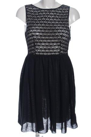 chiffon Spitzenkleid schwarz Elegant