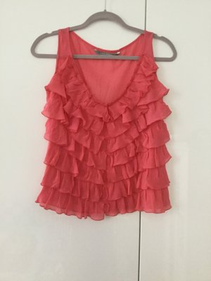 Chiffon top in S, pink Koralle