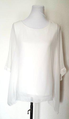 Chiffon Tunika Bluse ivory Street One Shirt elegante Shirtbluse 38