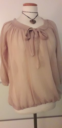 Moda Italia Transparent Blouse nude