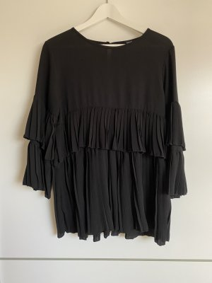 Boohoo Ruffled Blouse black