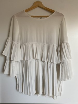 Boohoo Ruffled Blouse white