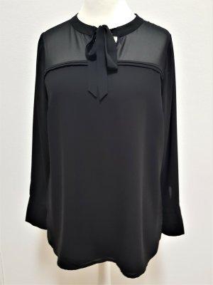 Comma Tie-neck Blouse black