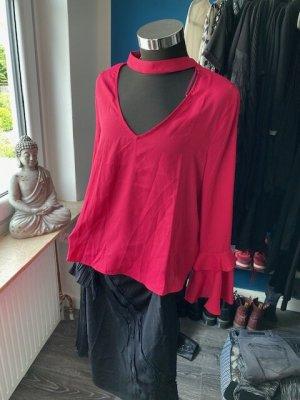 Mango Long Sleeve Blouse pink polyester