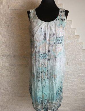 Italy Moda Szyfonowa sukienka miętowy-w kolorze białej wełny