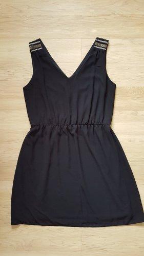 b.p.c. Bonprix Collection Chiffon jurk zwart