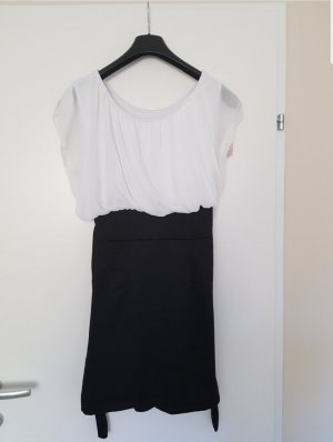 Chiffon Dress white-black