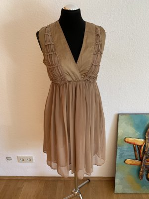 Villa Szyfonowa sukienka beżowy