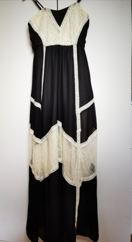 Danity Pinafore dress black-oatmeal