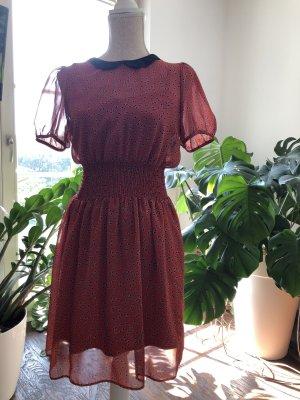 Atmosphere Szyfonowa sukienka głęboka czerwień-czarny