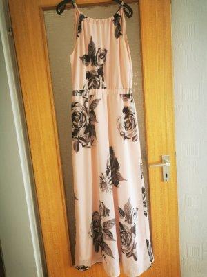 Bodyflirt Chiffon jurk grijs-rosé