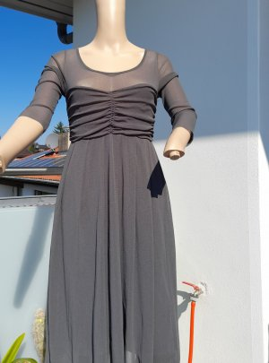 Robe chiffon gris acrylique