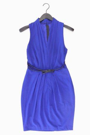 Chiffon jurk blauw-neon blauw-donkerblauw-azuur Polyester