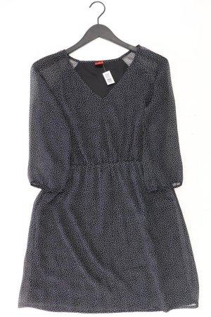 Chiffonkleid Größe 38 gepunktet 3/4 Ärmel schwarz aus Polyester