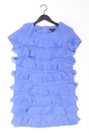 Chiffonkleid Größe 38 Kurzarm blau aus Polyester