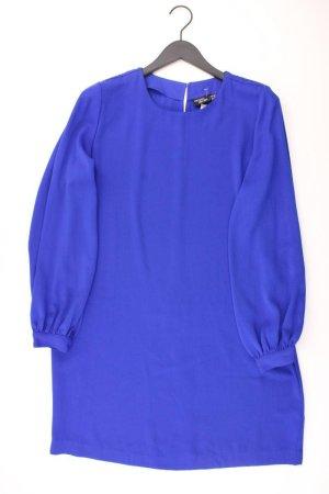 Chiffonkleid Größe 44 Langarm blau aus Polyester