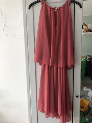 Stile Benetton Szyfonowa sukienka malina-różowy